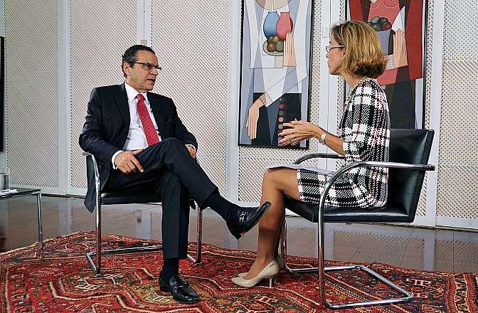 Presidente da Câmara, dep. Henrique Eduardo Alves (PMDB-RN) concede entrevista especial