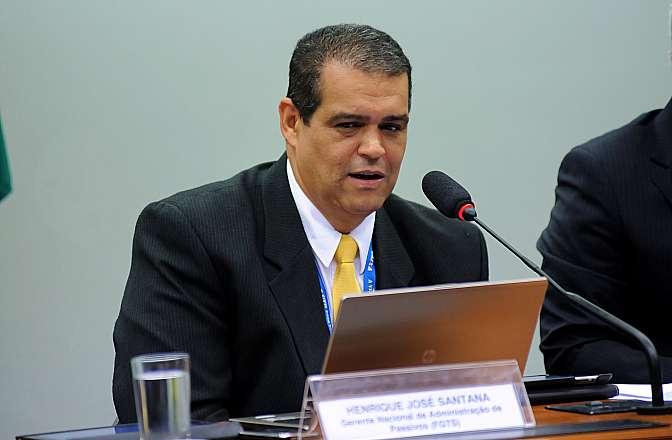 Audiência Pública para discutir sobre os serviços de loteria. Gerente Nacional de Administração de Passivos (FGTS), Henrique José Santana