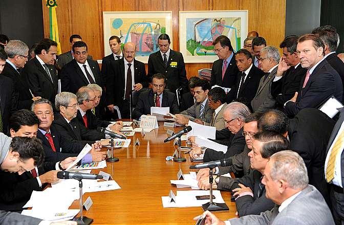Reunião com líderes partidários para definir quem irá ocupar as presidências das comissões temáticas permanentes da Casa