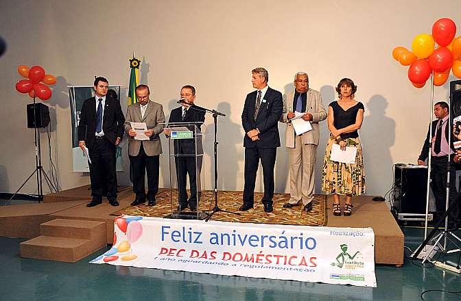 Ato público na celebrar um ano da promulgação da PEC das Domésticas