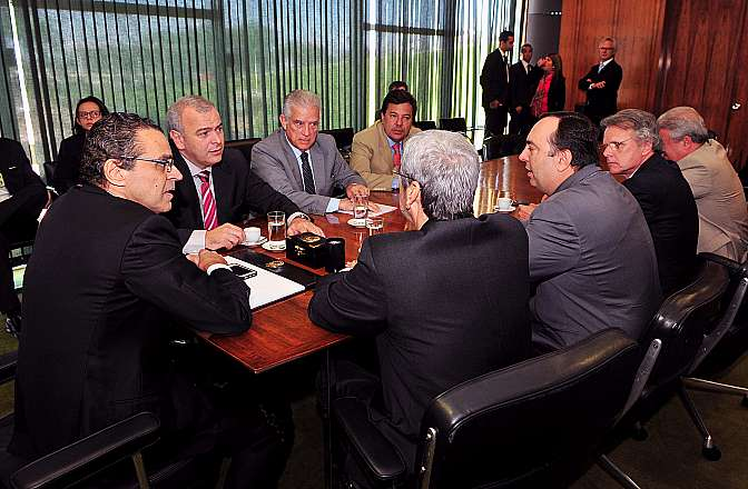 Presidente Henrique Eduardo Alves recebe líderes da oposição para tratar da CPI da Petrobras