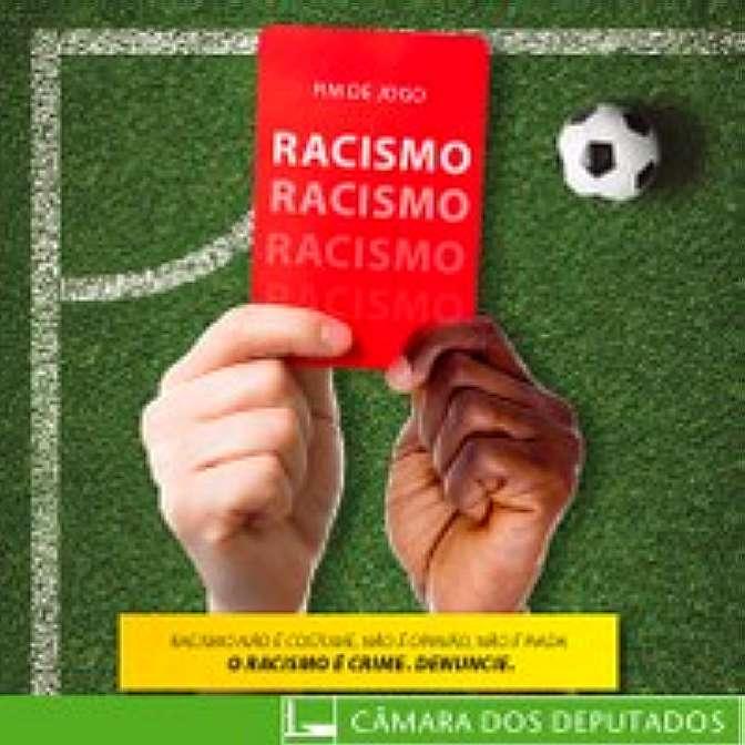 Selo campanha Fim de jogo para o racismo