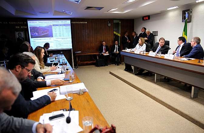 Reunião para oitiva da presidente da Petrobras, Maria das Graças Foster sobre irregularidades envolvendo a empresa Petróleo Brasileiro S/A (PETROBRAS), ocorridas entre os anos de 2005 e 2014 e relacionadas à compra da Refinaria de Pasadena, no Texas (EUA)
