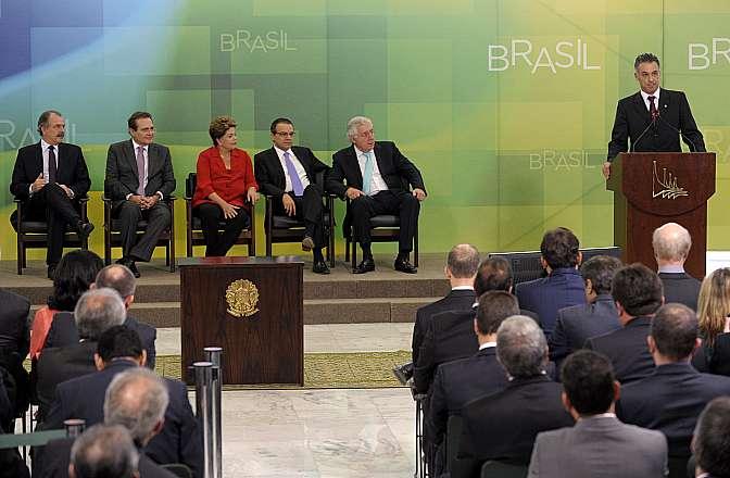 Cerimônia de Sanção da Lei que altera o Simples Nacional. Dep. Guilherme Campos (PSD-SP)