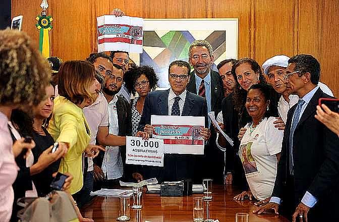 Segurança pública - geral - Henrique Alves recebe abaixo-assinado com mais de 30 mil assinaturas a favor do projeto do auto de resistência
