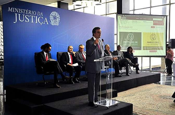 Lançamento dos debates públicos do Marco Civil da Internet Proteção de dados pessoais, no Ministério da Justiça