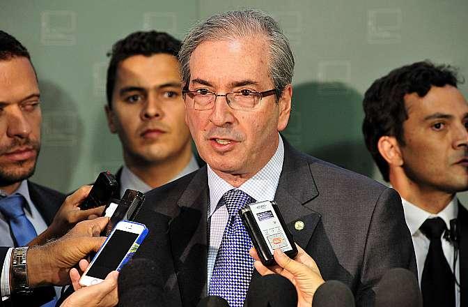 Novo presidente da Câmara, dep. Eduardo Cunha (PMDB-RJ) concede entrevista