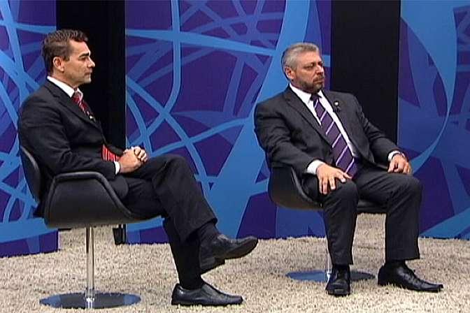 deputados Laudívio Carvalho (PMDB-MG) e Padre João (PT-MG)