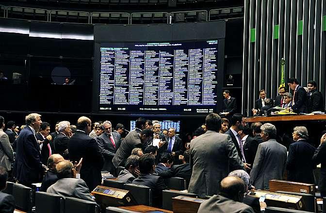 Sessão conjunta da Câmara dos Deputados e do Senado Federal para votar o projeto de lei do orçamento de 2015 (PLN 13/14)