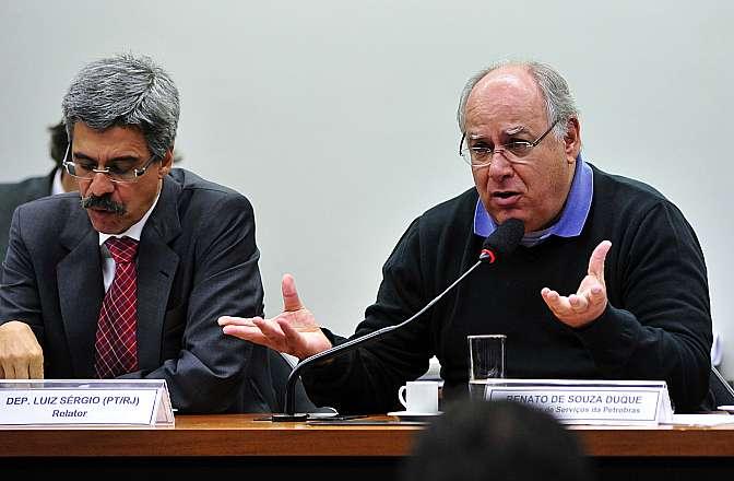 Ex-diretor da Petrobras, Renato Duque depõe à Comissão Parlamentar de Inquérito (CPI) que investiga irregularidades na estatal