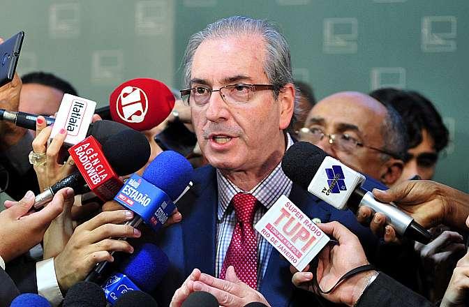 Presidente da Câmara, dep. Eduardo Cunha (PMDB-RJ) concede entrevista