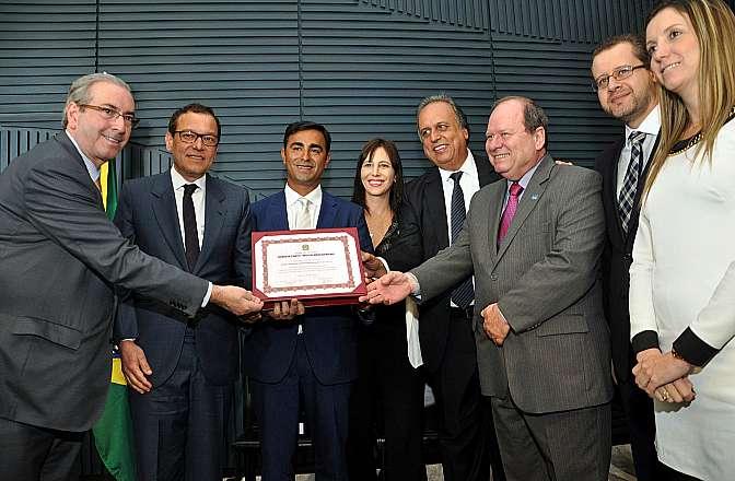 Cerimônia de entrega do Prêmio Dr. Pinotti, homenagem às instituições que se destacam pelos serviços voltados à saúde da mulher. Agraciados do Instituto Estadual do Cérebro Paulo Niemeyer (RJ)