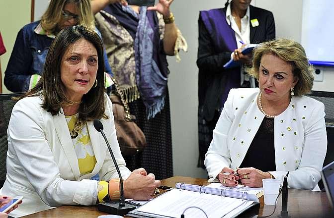 Reunião da bancada feminina com a diretora regional das Américas e Caribe da ONU Mulheres, Luiza Carvalho. À direita, dep. Elcione Barbalho (PMDB-PA)