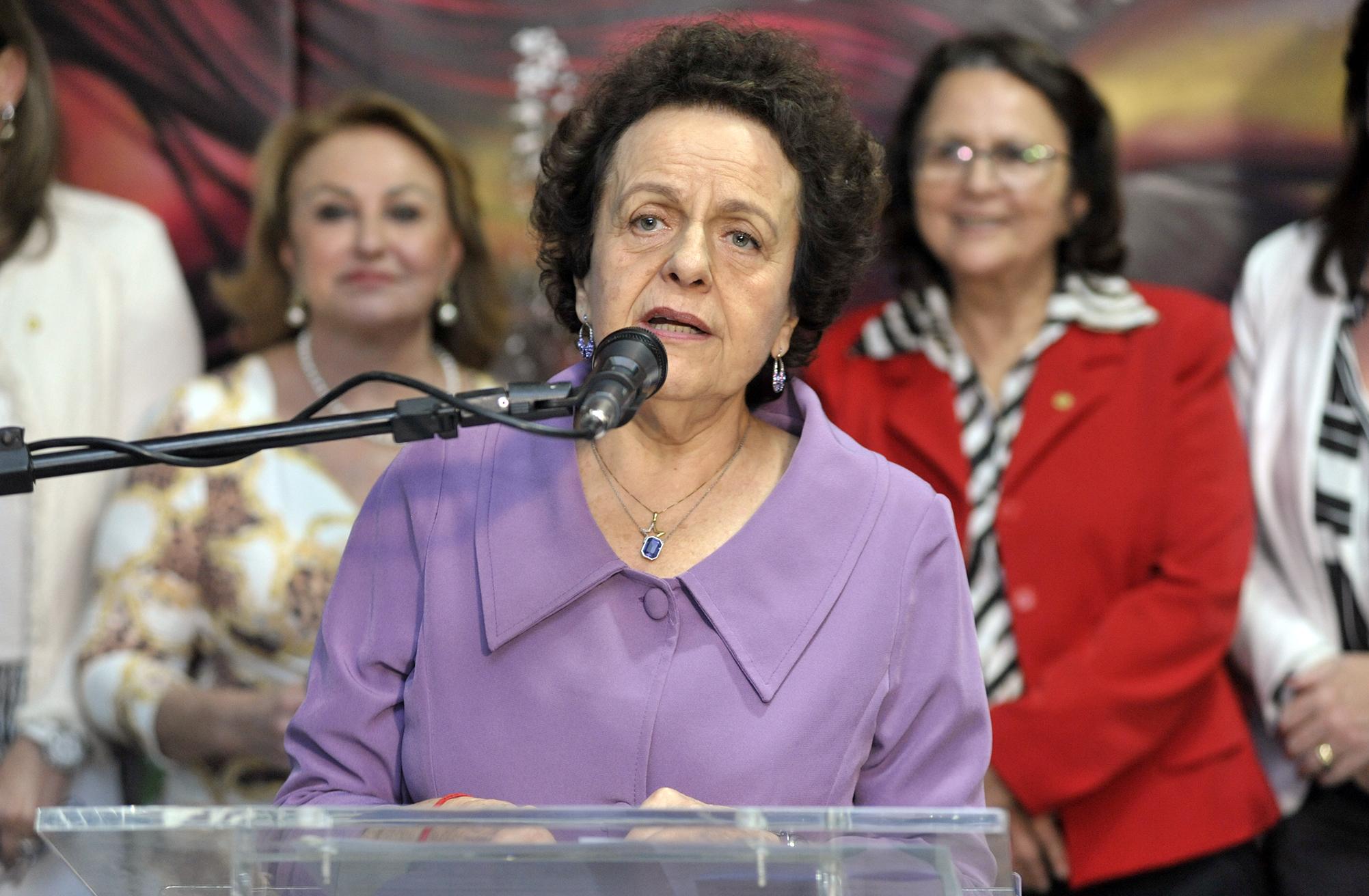 Ato em Comemoração aos 9 anos da Lei Maria da Penha. Ministra da Secretaria de Políticas para as Mulheres da Presidência da República, Eleonora Menicucci de Oliveira