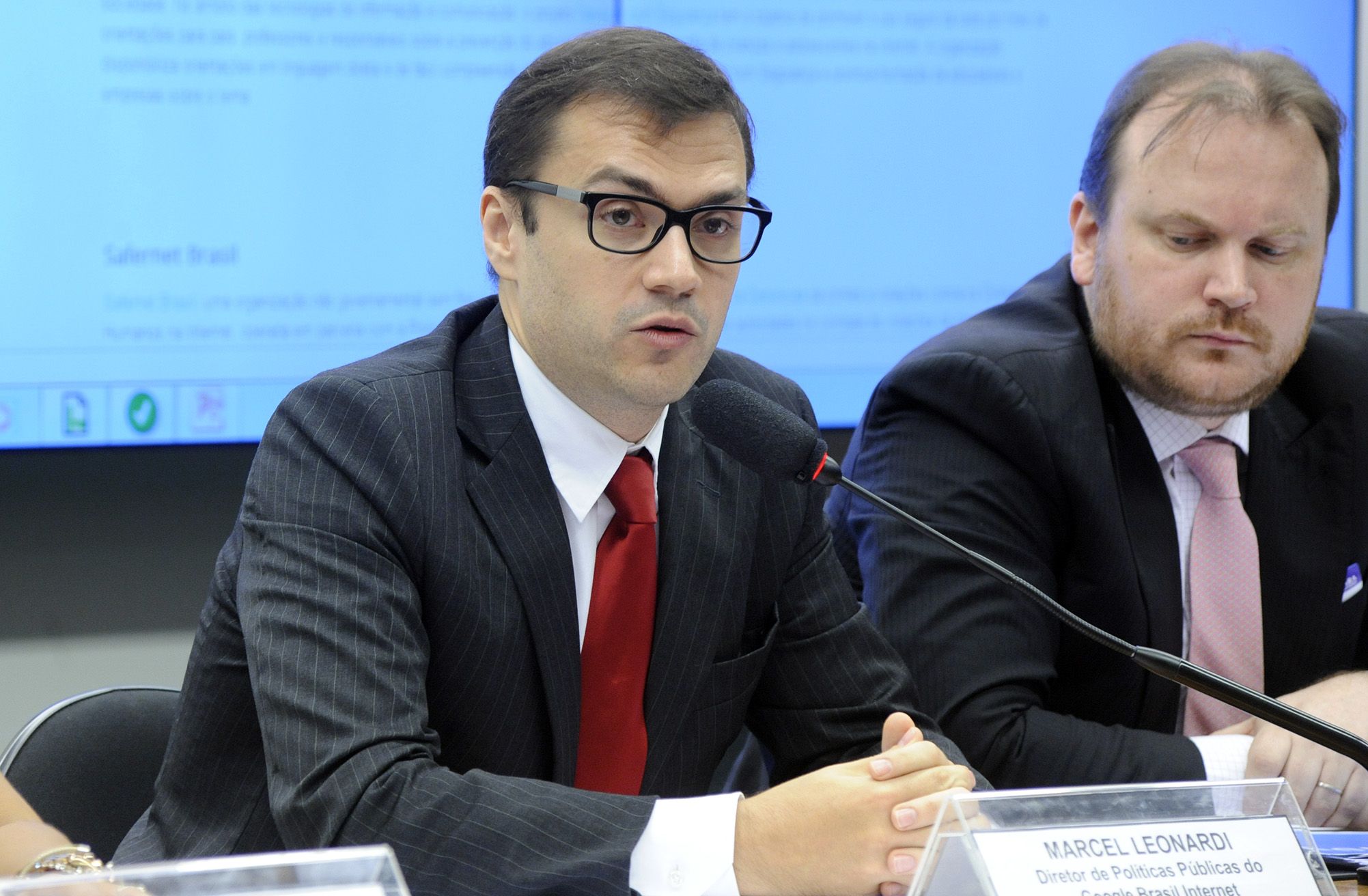 Audiência Pública. Diretor de Políticas Públicas do Google Brasil Internet, Marcel Leonardi