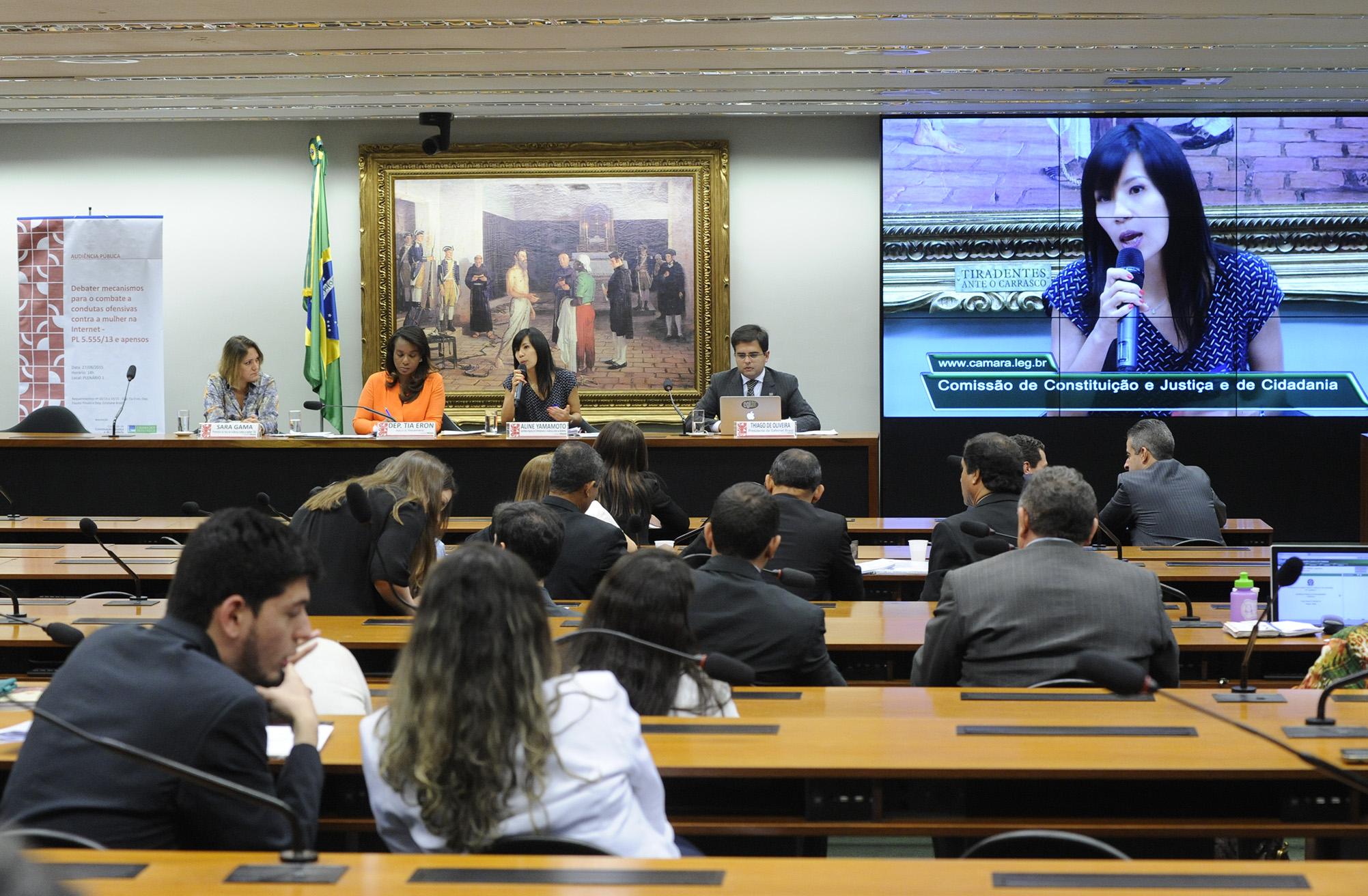 Audiência pública para debater mecanismos para o combate a condutas ofensivas contra a mulher na Internet ou em outros meios de propagação da informação (PL nº 5555/2013 e seus apensados)