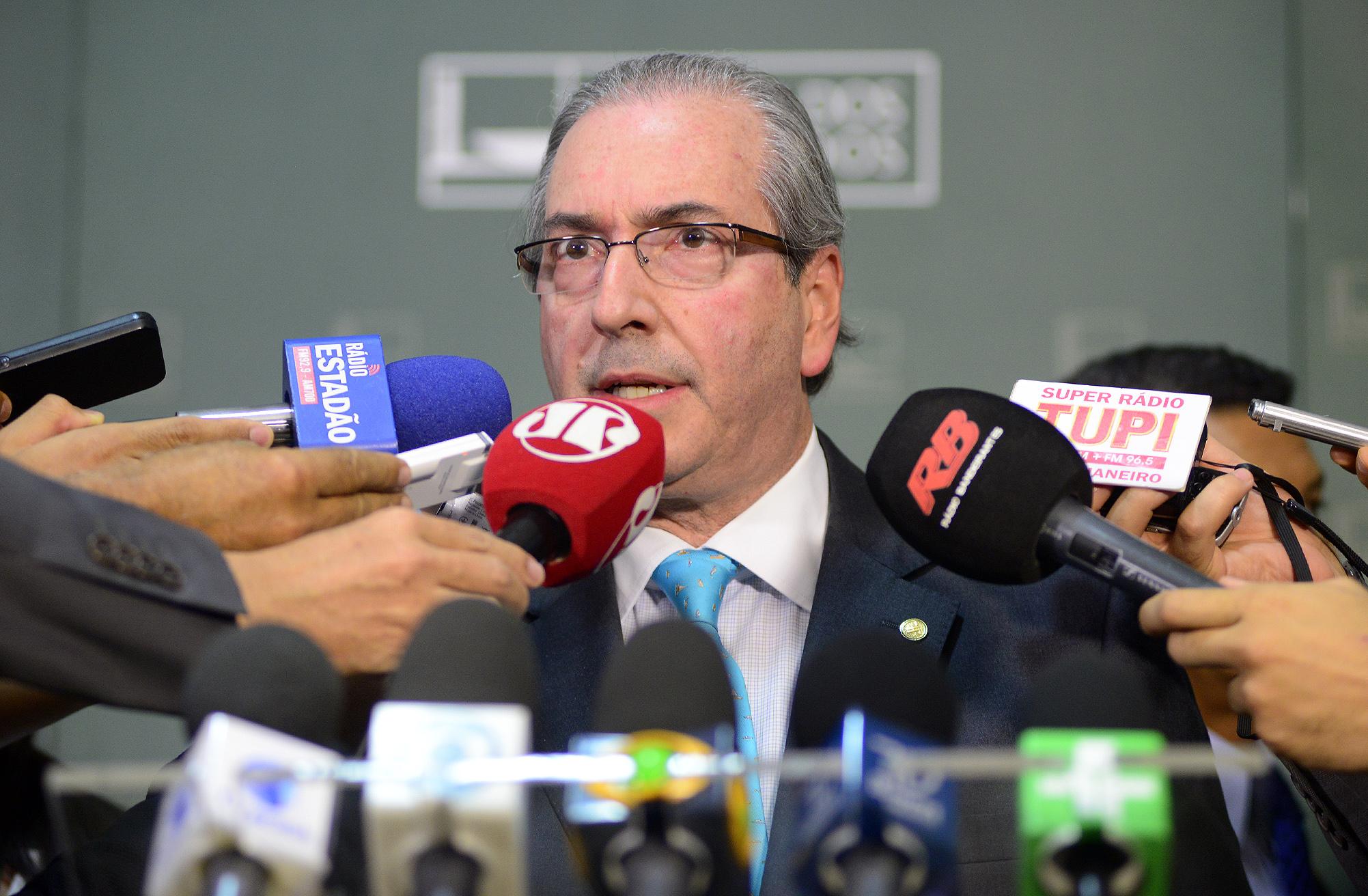 Presidente da Câmara Eduardo Cunha (PMDB-RJ), concede entrevista
