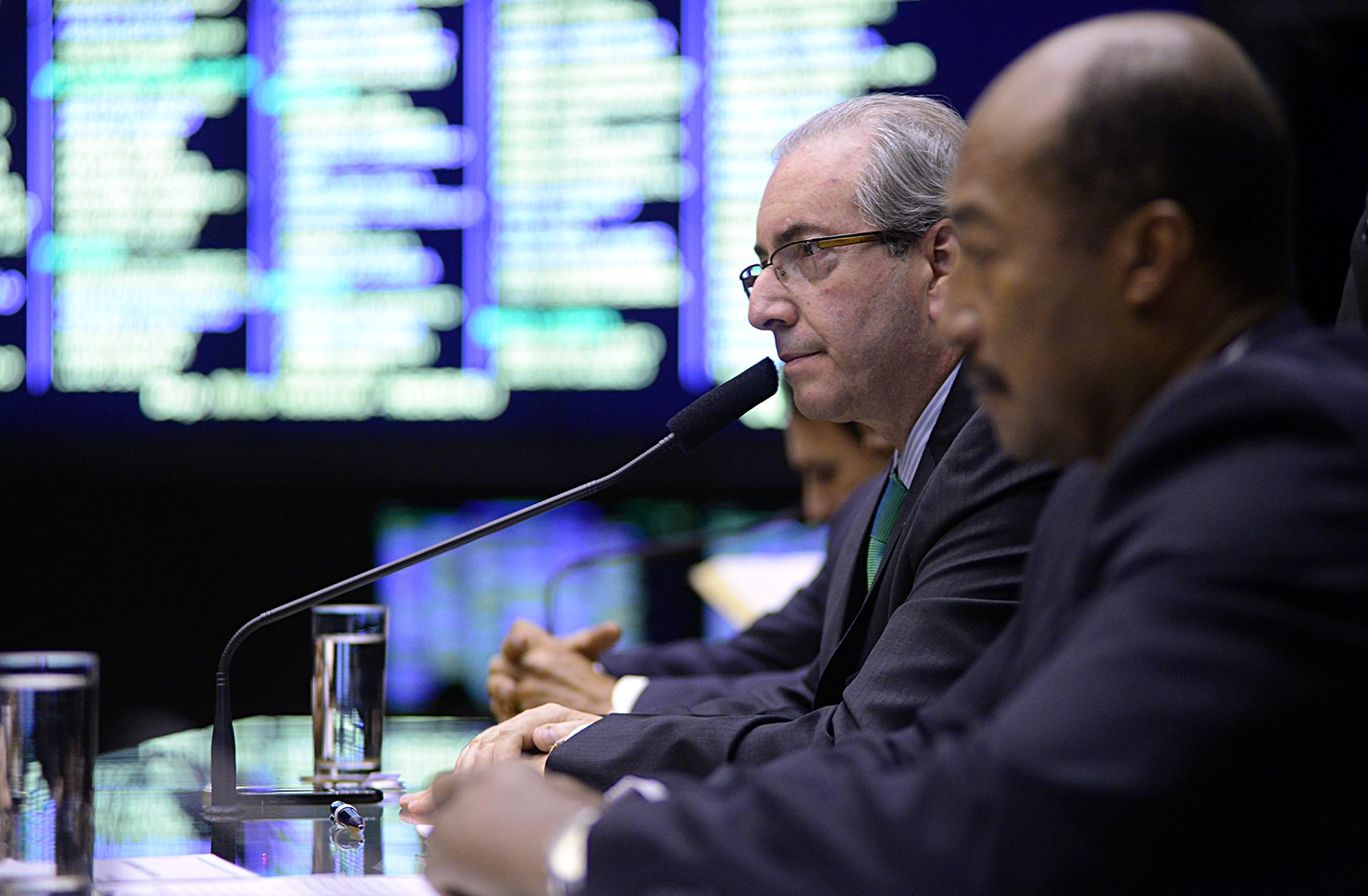 Sessão extraordinária para discussão e votação de diversos projetos. Presidente da Câmara, dep. Eduardo Cunha (PMDB-RJ)