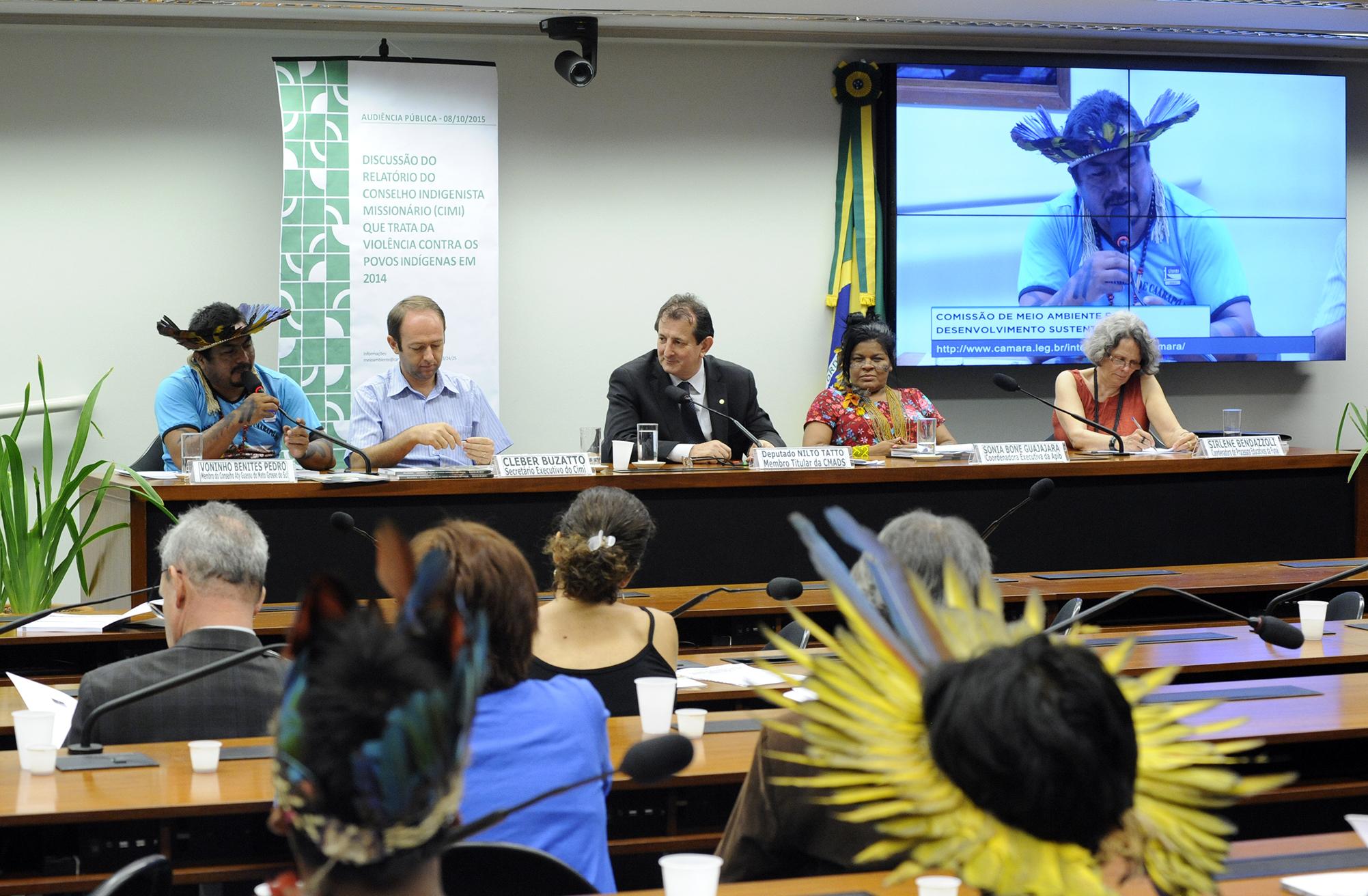 Audiência pública para discussão do relatório do Conselho Indigenista Missionário (CIMI) que trata da violência contra os povos indígenas em 2014