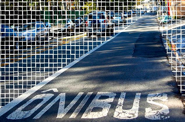 faixa exclusiva onibus