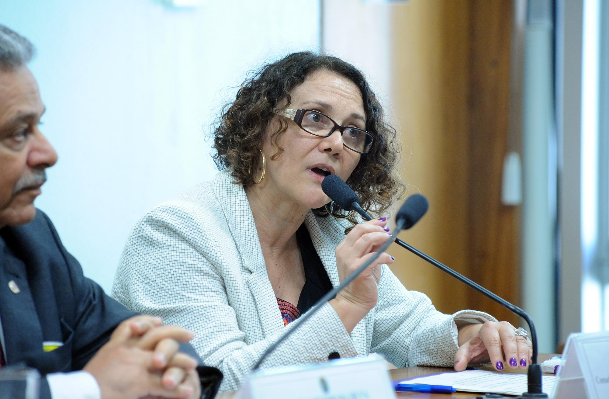 Audiência pública sobre a MP 696/15, que dispõe sobre a reforma administrativa do Governo Federal. Conselheira do Conselho Nacional dos Direitos da Mulher (CNDM), Sheila Sabag