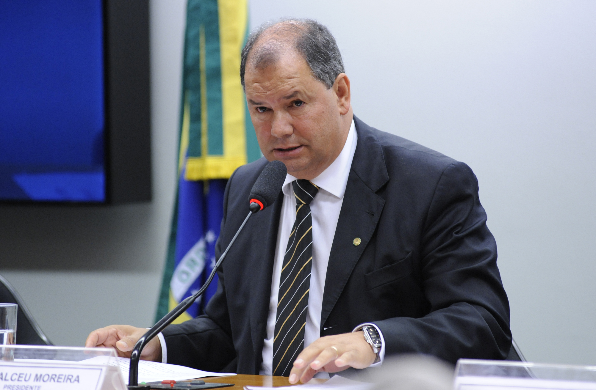 Reunião de instalação da CPI e eleição para composição da mesa. Presidente eleito, dep. Alceu Moreira (PMDB-RS)