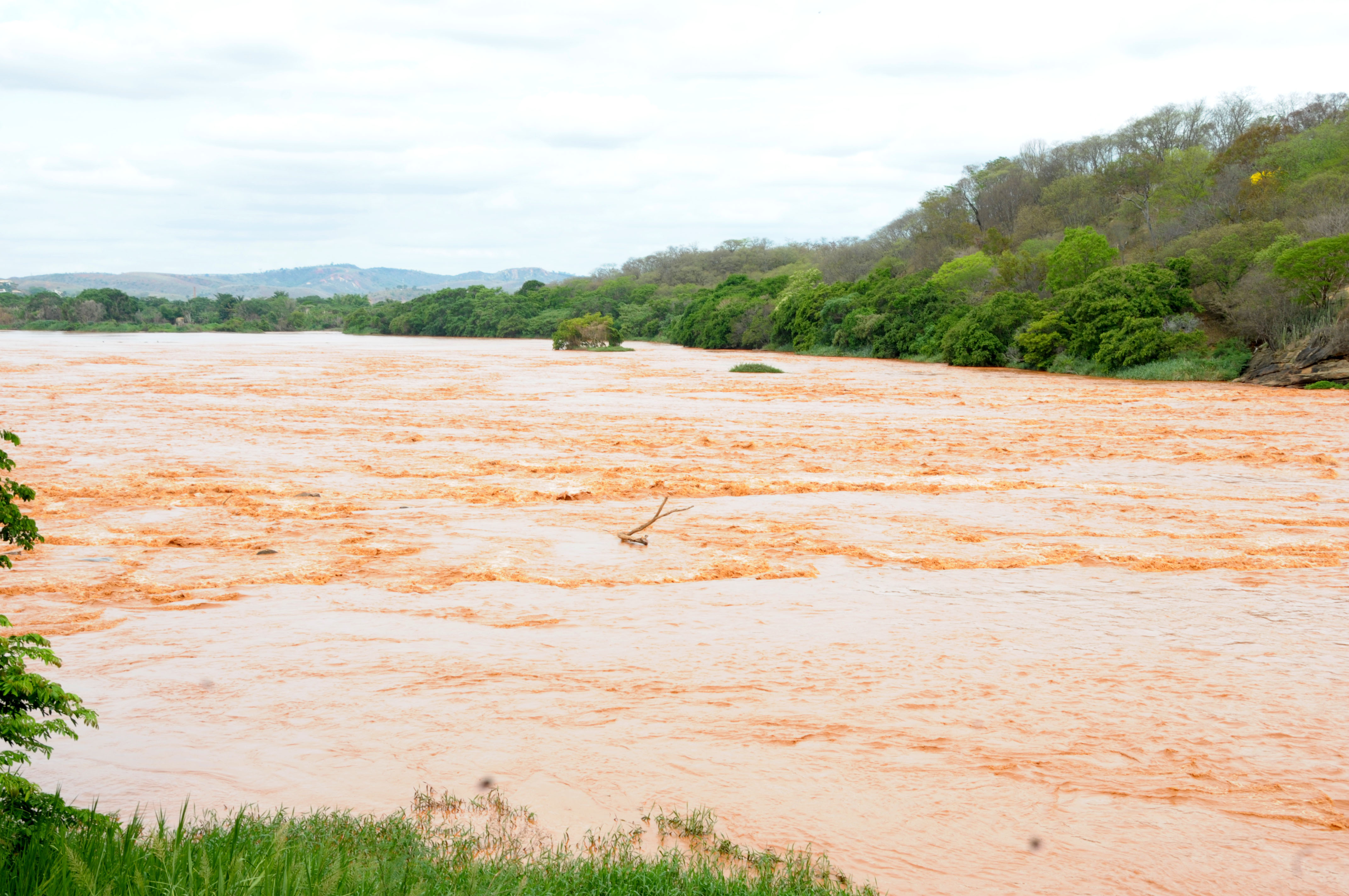 Rio Doce após rompimento de barragem em MG
