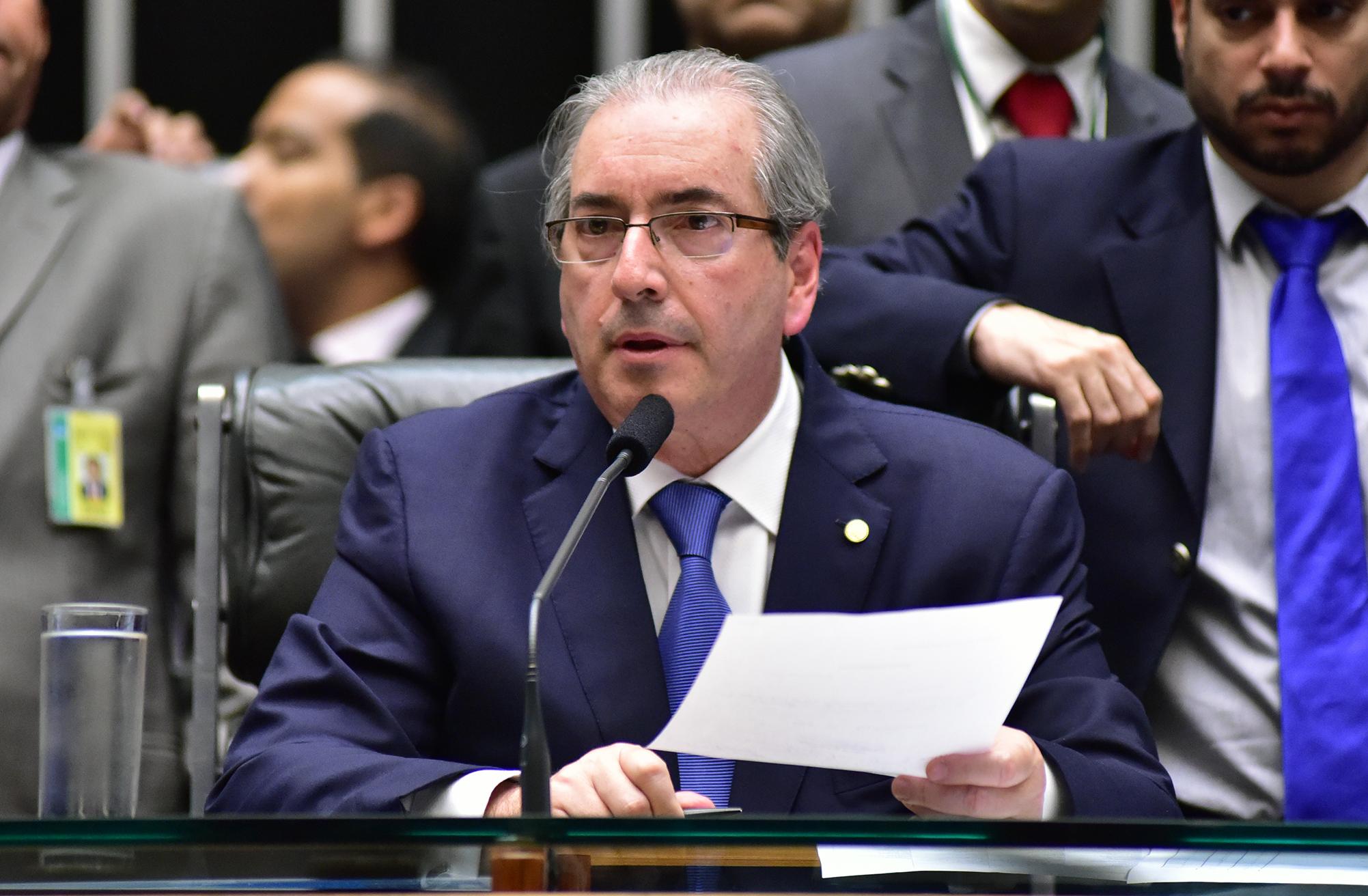 Ordem do dia destinada a analisar medidas provisórias que trancam os trabalhos da Casa. Presidente da Câmara, dep. Eduardo Cunha (PMDB-RJ)