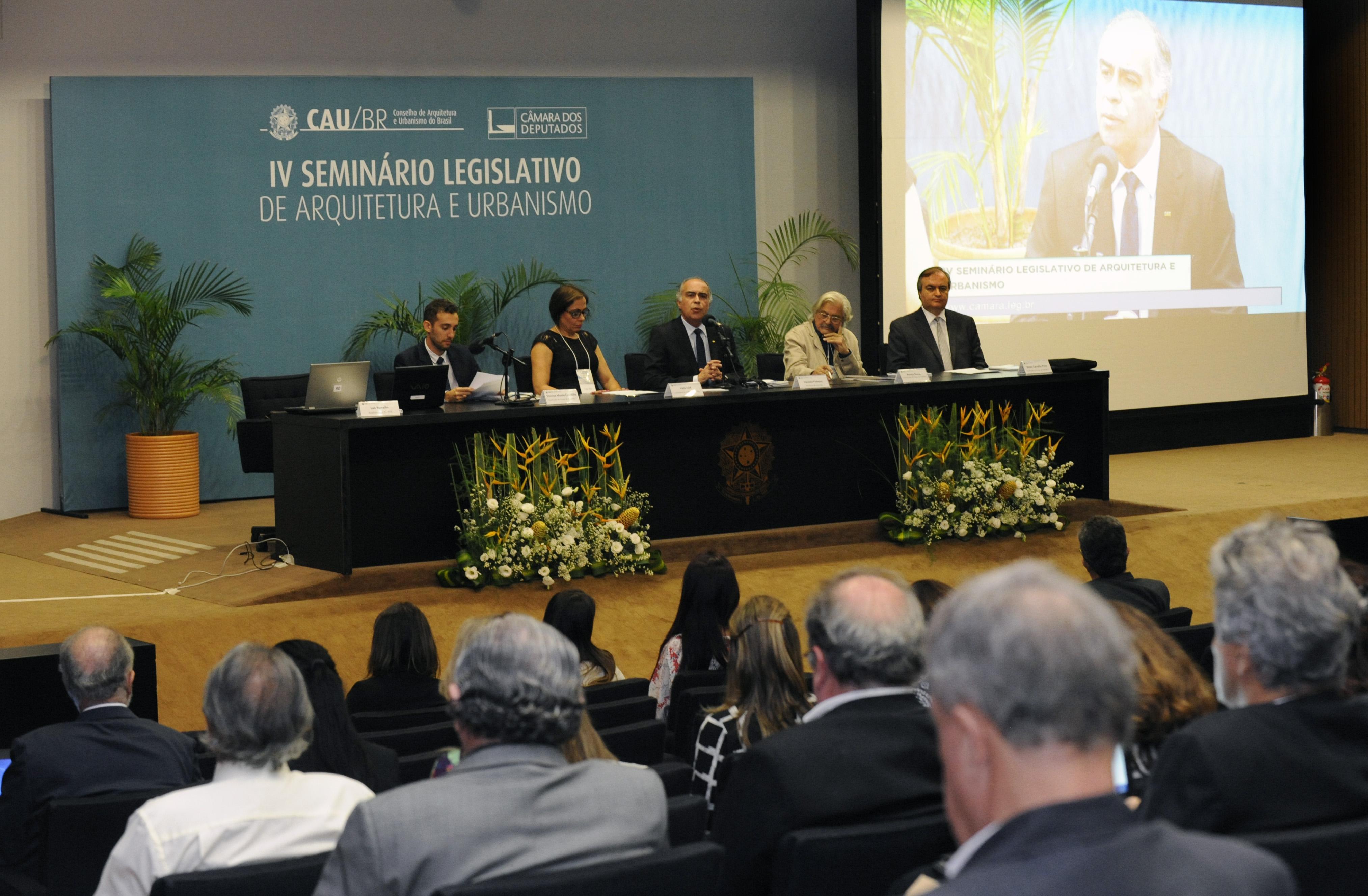 IV Seminário Legislativo de Arquitetura e Urbanismo