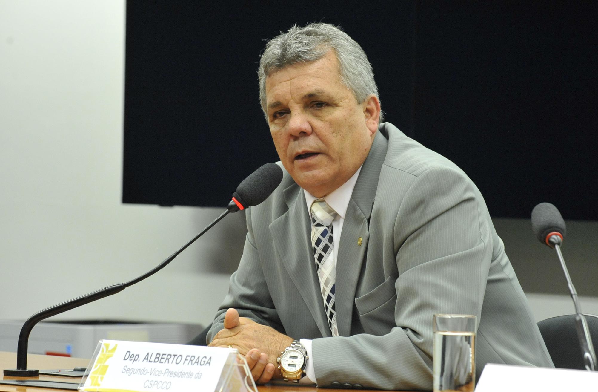 Reunião de instalação da comissão e eleição do Presidente e dos Vice-Presidente. Dep. Alberto Fraga (DEM-DF)