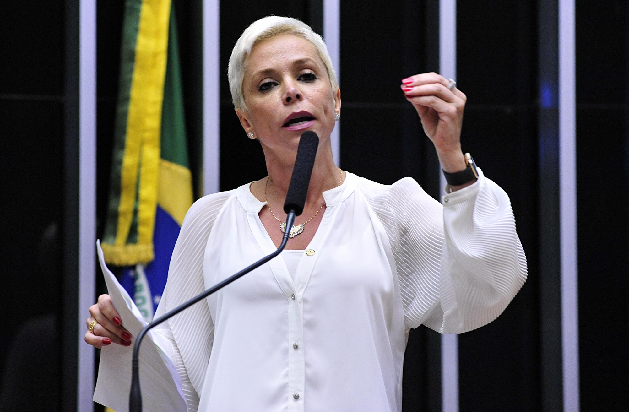 Sessão extraordinária para eleição do novo presidente da Câmara dos Deputados. Candidata dep. Cristiane Brasil (PTB-RJ)