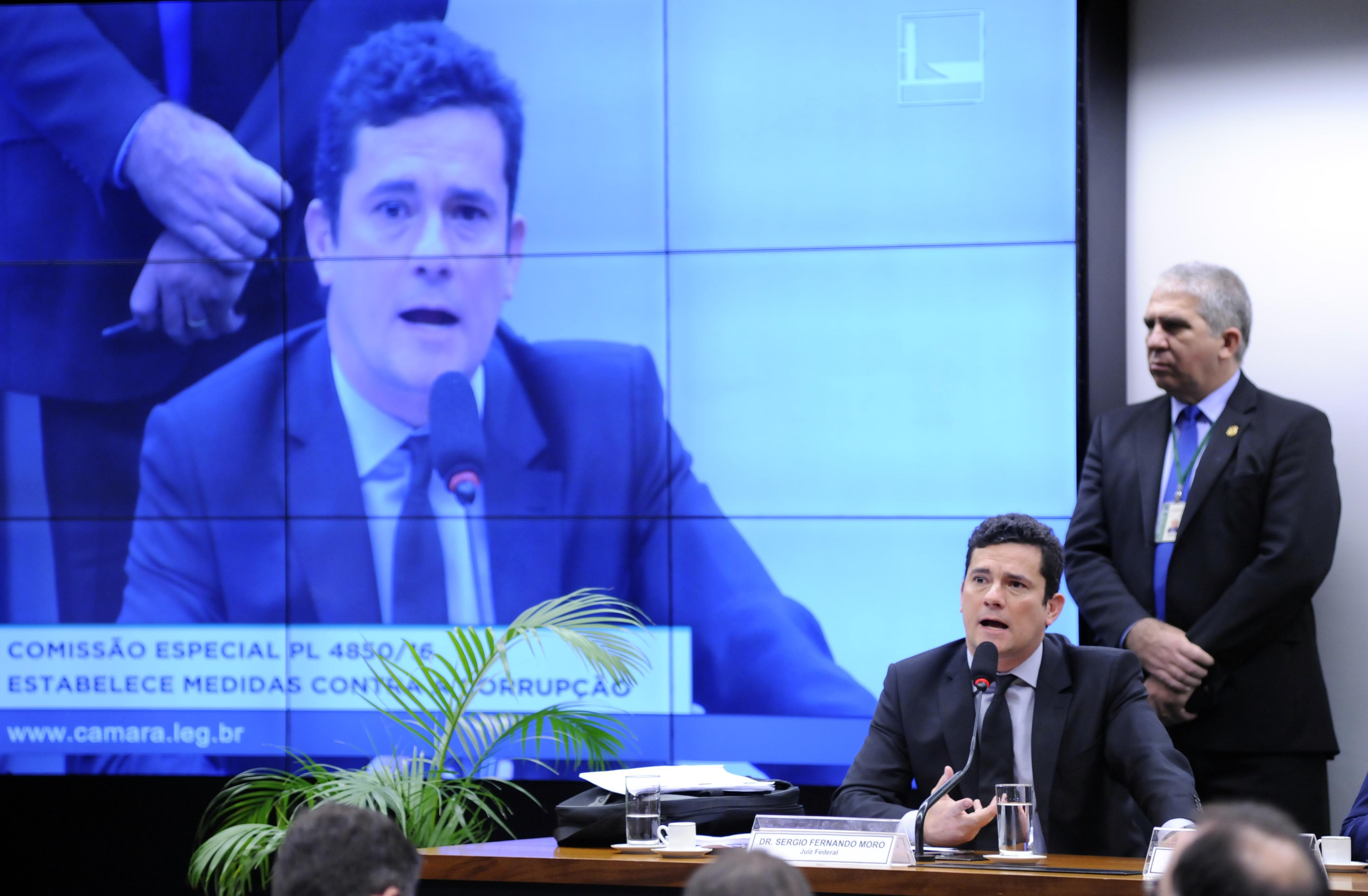 Audiência pública para debate sobre o PL 4850/2016 - Estabelece Medidas Contra a Corrupção. Juiz Federal da 13ª Vara Federal de Curitiba da Seção Judiciária do Paraná, Sergio Fernando Moro