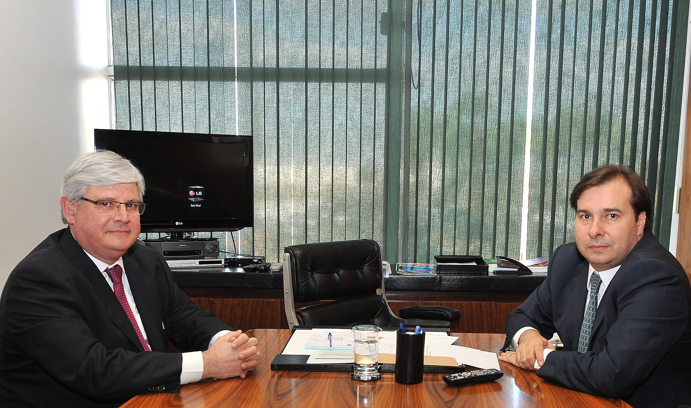 Presidente da Câmara, Dep. Rodrigo Maia recebe visita do Procurador-geral da República, Rodrigo Janot