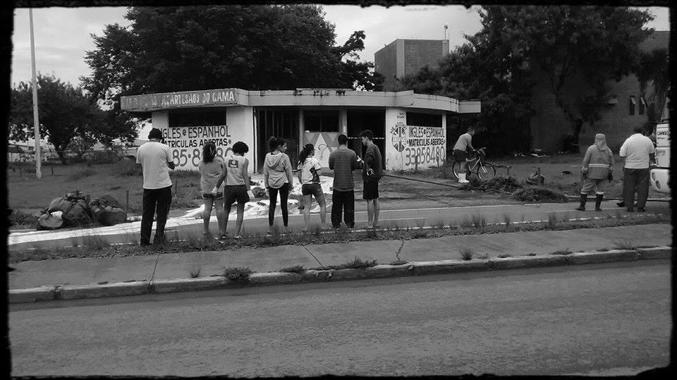 Grupo Semente ocupa extinta Casa do Artesão do Gama