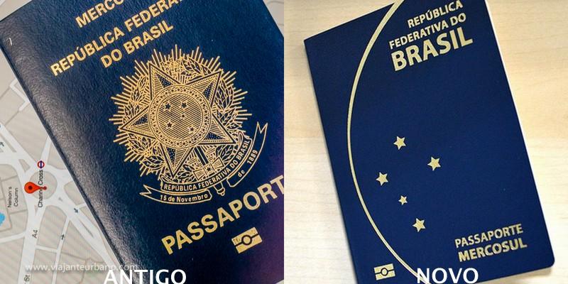 Passaportes brasileiro - antigo e novo