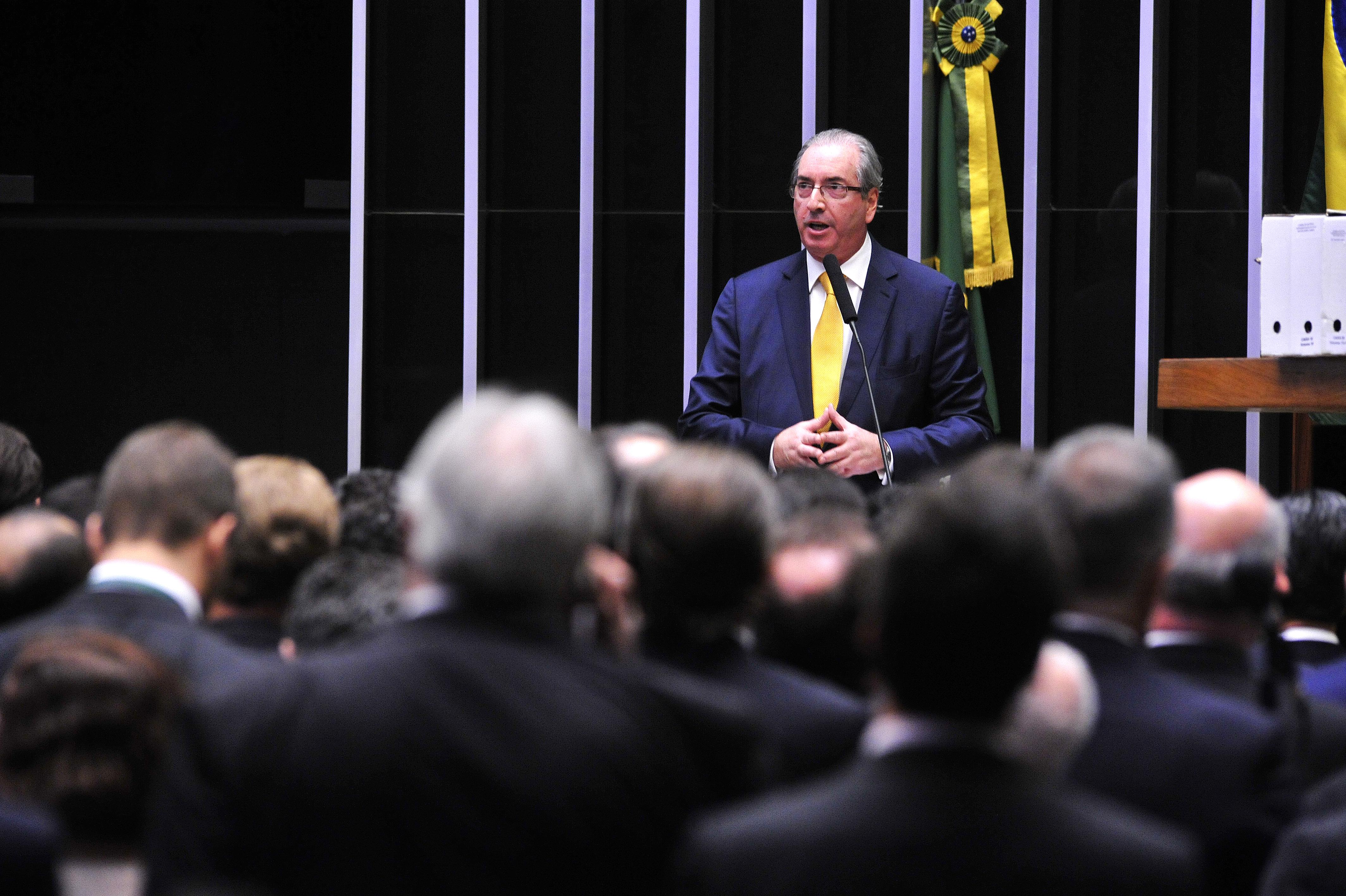 Sessão de votação do pedido de perda de mandato do deputado afastado Eduardo Cunha (PMDB-RJ)