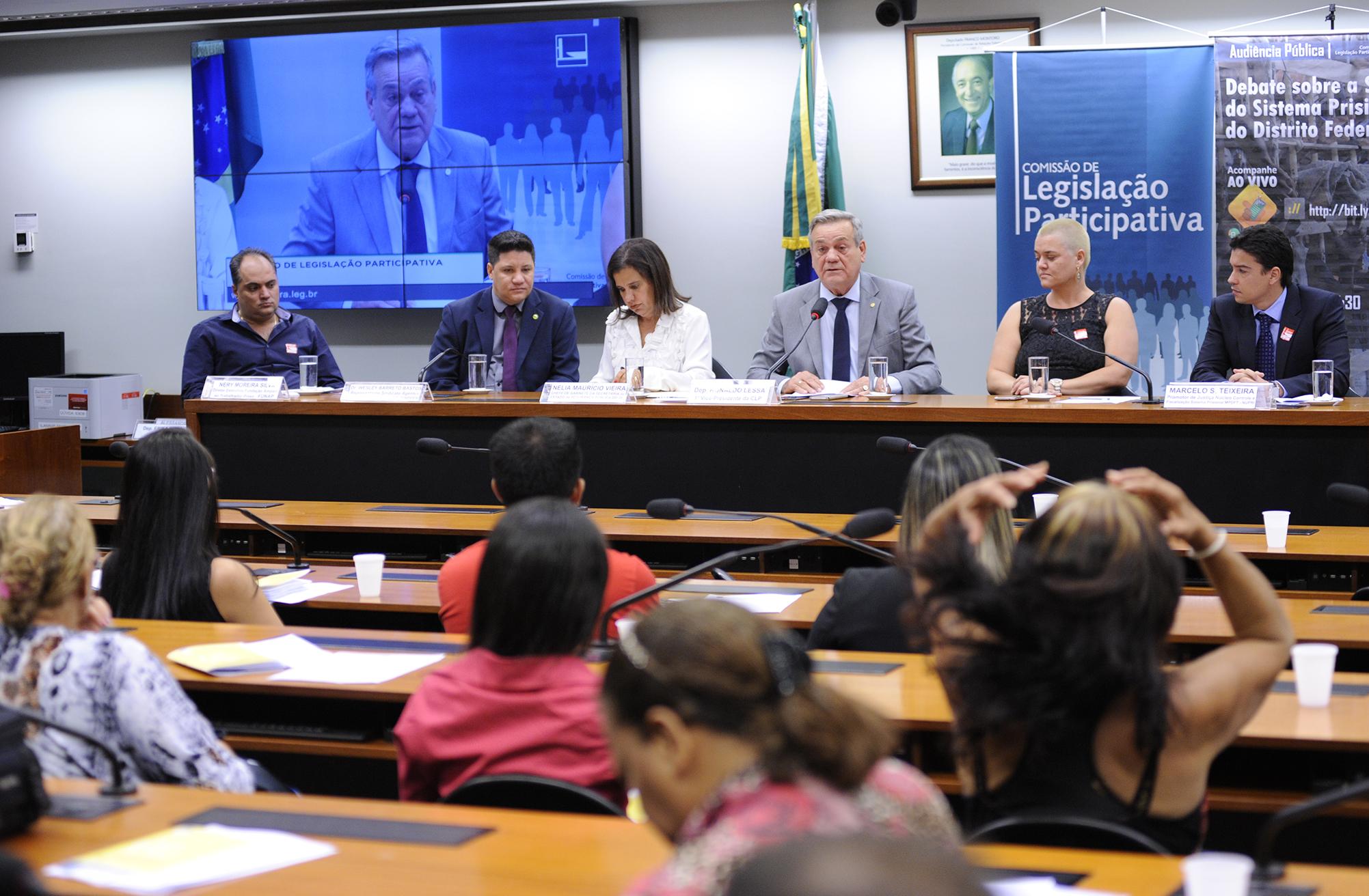 Audiência pública para debater a situação do Sistema Prisional do Distrito Federal