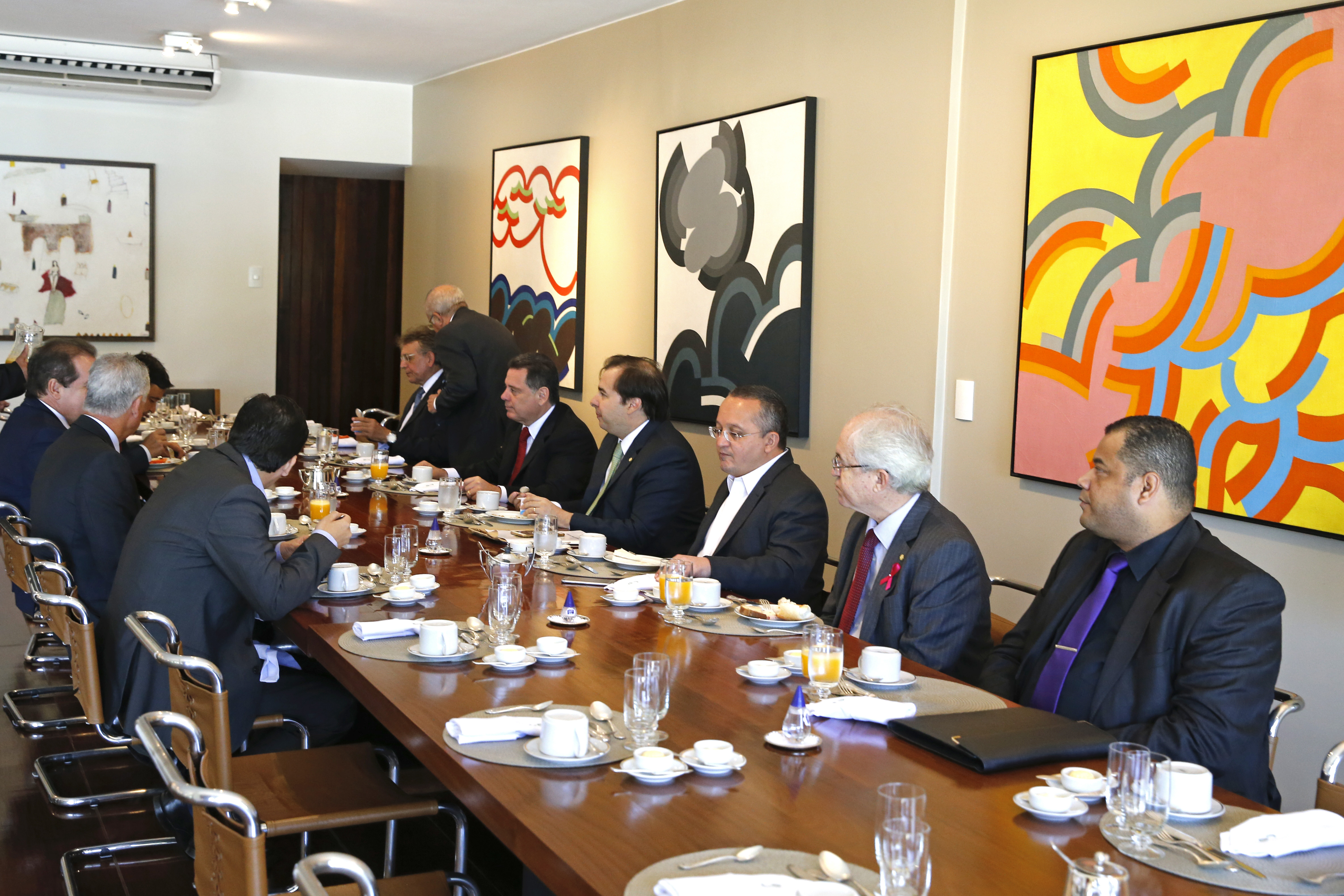 Café da manhã com governadores na residência oficial da Câmara dos Deputados