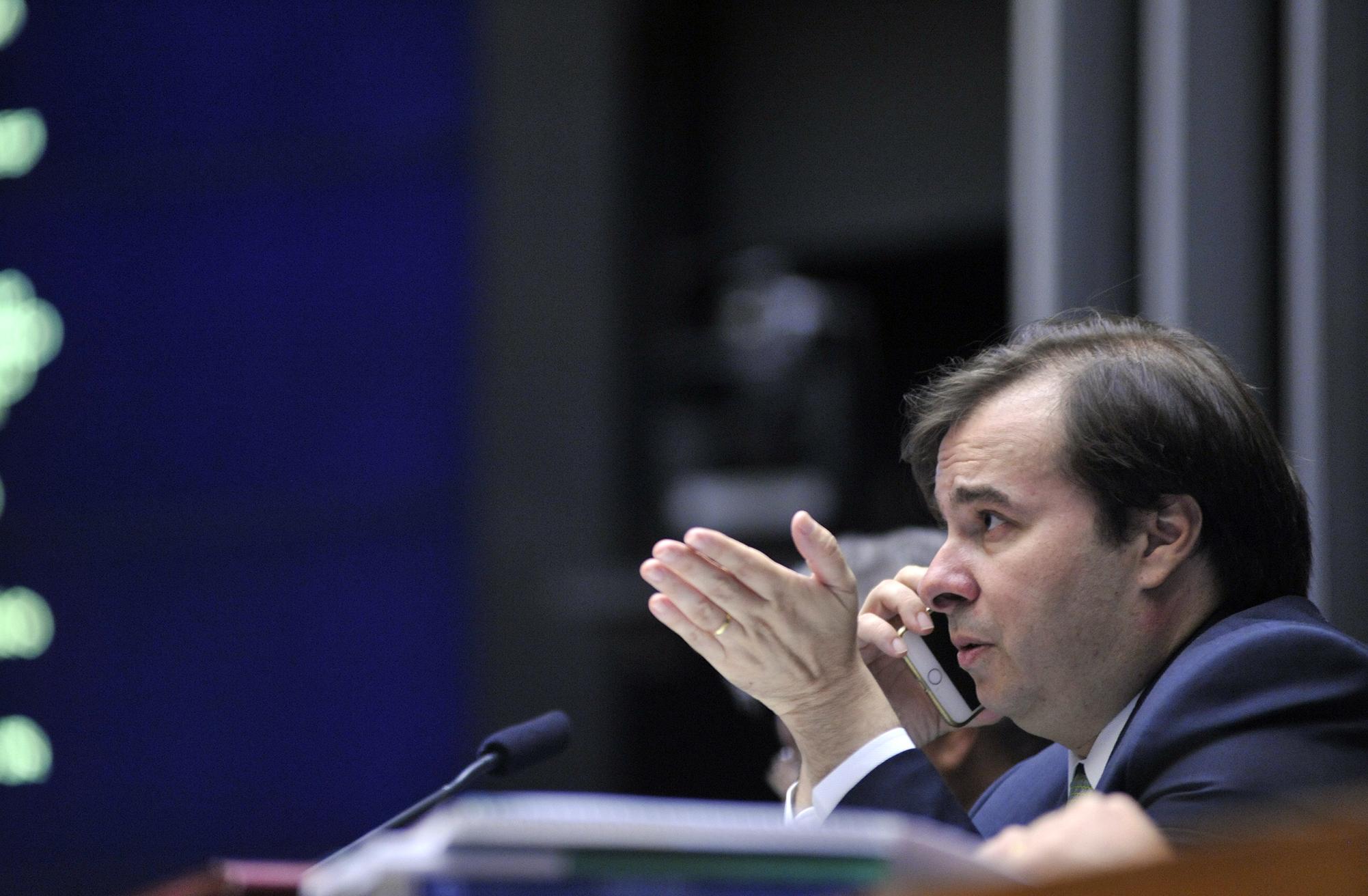 Sessão extraordinária para discussão e votação de diversos projetos. Presidente da Câmara, dep. Rodrigo Maia (DEM-RJ)