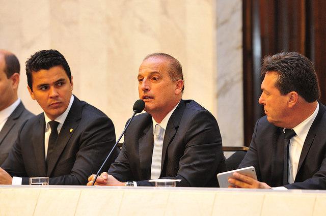 Deputado Onyx Lorenzoni (DEM-RS) em audiência pública sobre combate à corrupção na Assembleia Legislativa do Paraná