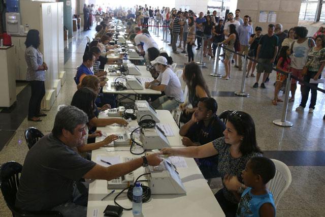 Justiça eleitoral - Eleições 2016 - sessão eleitoral - identificação biométrica