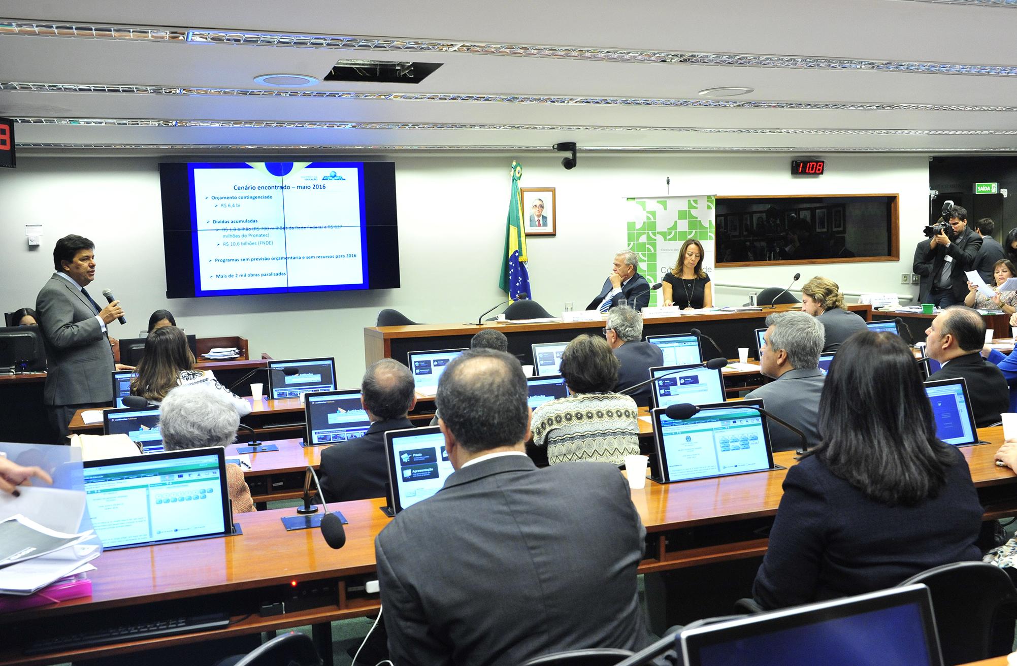 Reunião ordinária com o ministro da Educação, José Mendonça Bezerra Filho para esclarecimentos sobre a MP 746/16, sobre a reforma do Ensino Médio