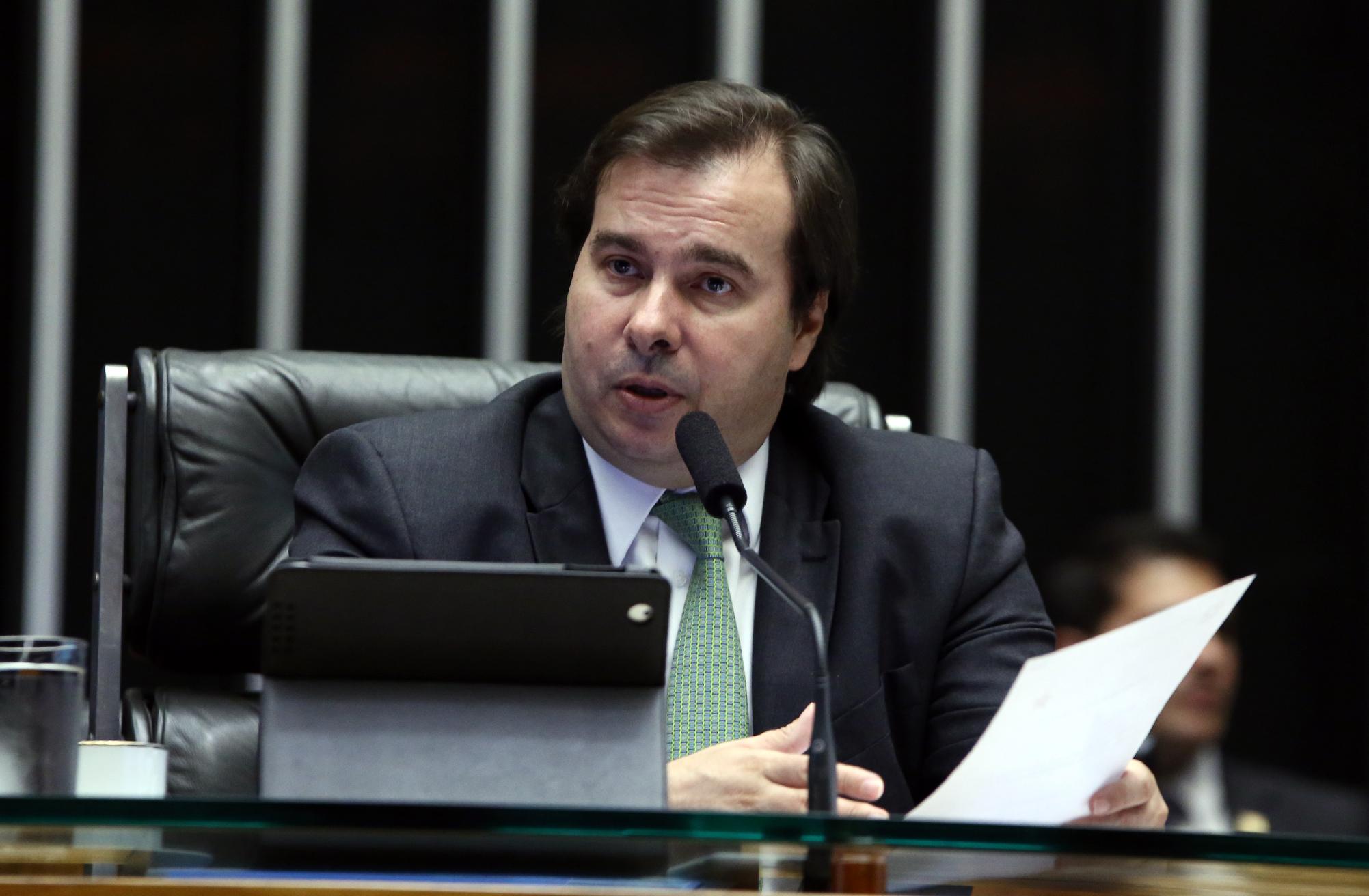 Sessão extraordinária da Câmara dos Deputados para discussão e votação de diversos projetos. Presidente da Câmara, dep. Rodrigo Maia (DEM-RJ)