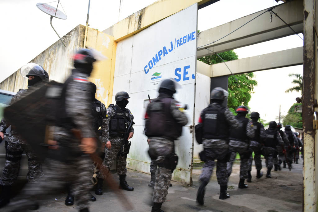 Segurança - presídio - Complexo Penitenciário Anísio Jobim Manaus Amazonas