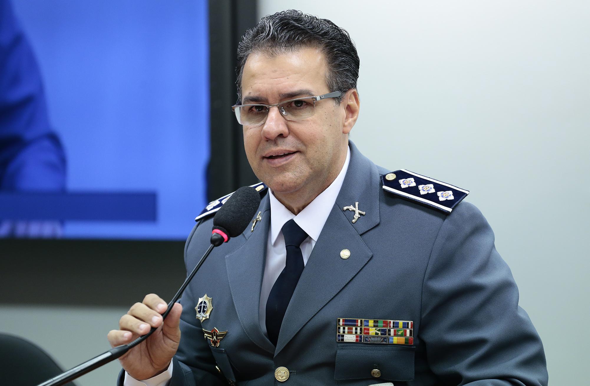 Reunião de instalação da comissão e eleição do novo presidente. Presidente eleito, dep. Capitão Augusto (PR-SP)