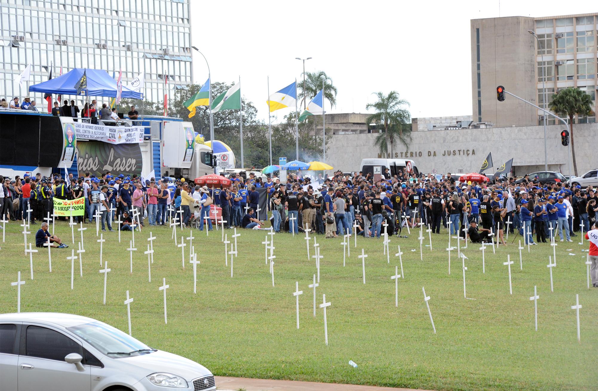 Manifestação de Policiais Civis de todo o país contra a reforma da previdência