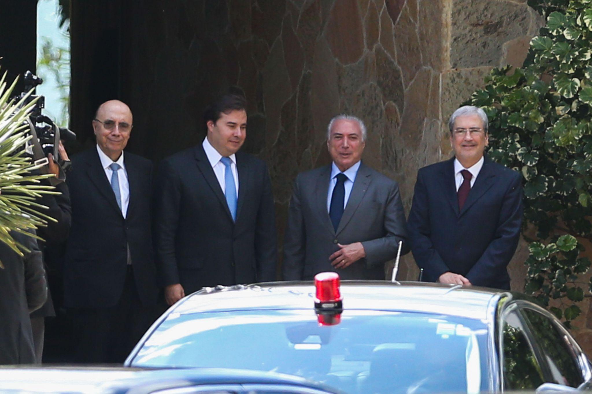 Reunião do presidentes da República, Michel Temer, da Câmara, Rodrigo Maia, e do Senado, Eunício Oliveira, com governadores