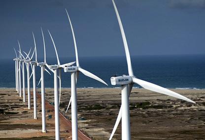 Energia - renováveis - Parque de energia eólica em Caetité na Bahia