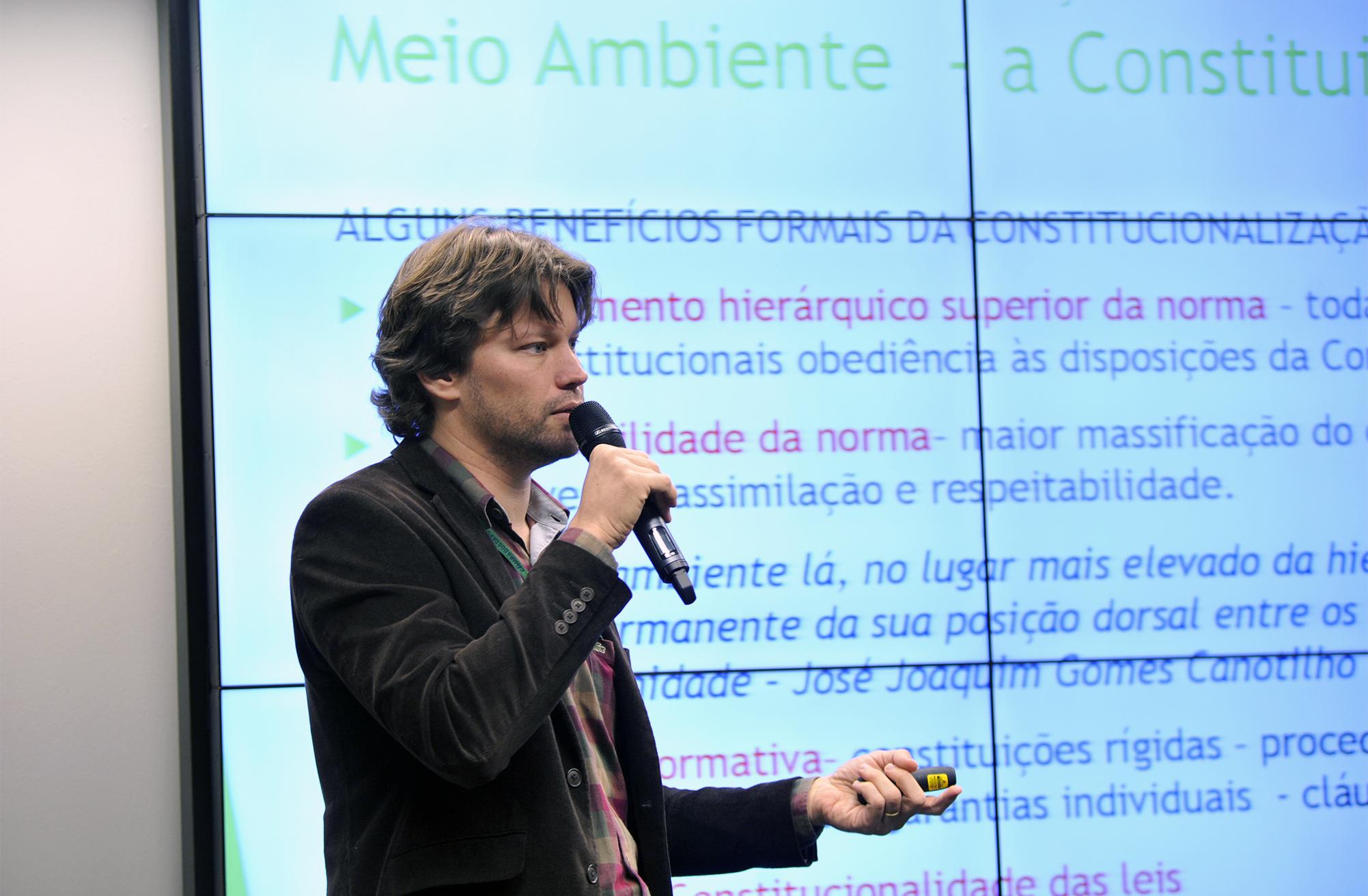 Curso de Legislação Ambiental 2017. Palestrante, Henrique Paranhos Sarmento Leite