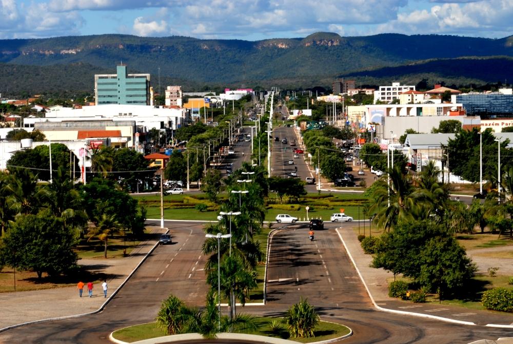 Programa Coisas do Brasil - Avenida Jk, Palmas, Vista do Palácio para Serra do Lajeado
